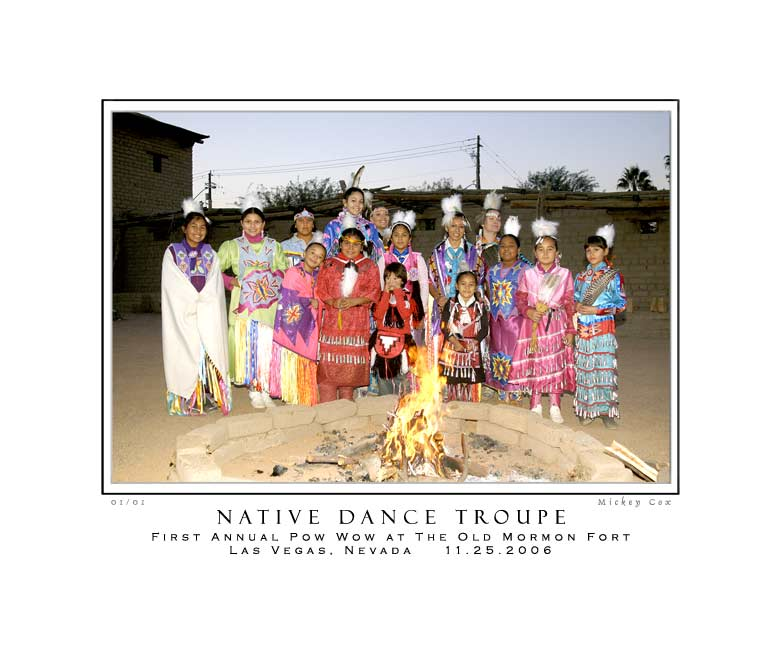 Native Dance Troupe, 1st Annual Pow Wow, Las Vegas, Nevada 2006 ~ © Mickey Cox, 2006