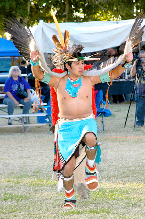 Zuni Eagle Dancer, 8th Annual Pahrump Pow Wow, Pahrump, Nevada 2006 - © Mickey Cox 2006