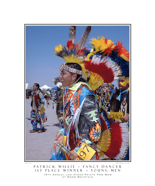 Patrick Willie - Young Mens Fancy Dancers, Snow Mountain Pow Wow 2007 - © Mickey Cox 2007