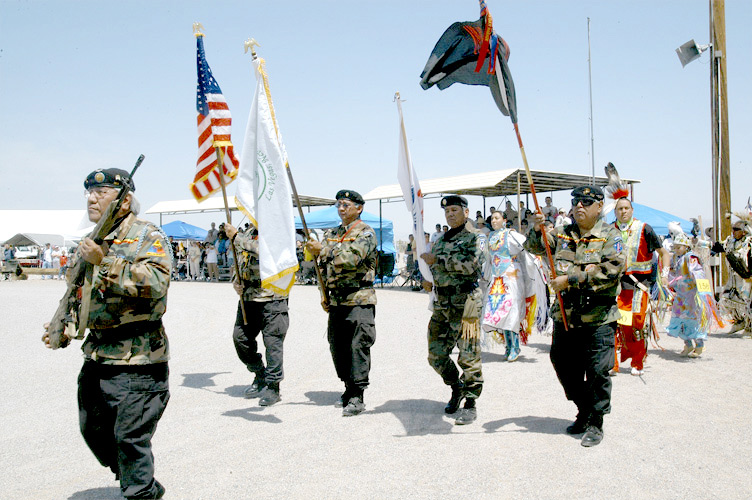 The Las Vegas Paiute Veteran's Honor Guard - 2007 - © Mickey Cox, 2006