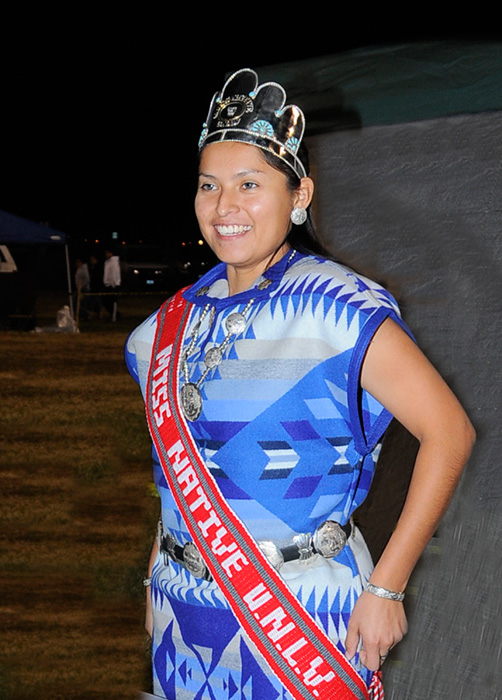 Shi - Tawanna Kedelty - Dine' - MISS NATIVE UNLV 2007-2008 at the Las Vegas Intertribal Pow Wow, Las Vegas, Nevada 2008 - © Mickey Cox 2008