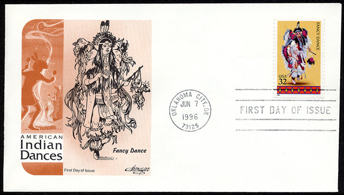 American Indian Dances, FDC, 1996