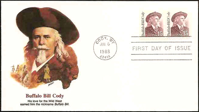 Buffalo Bill Cody FDC, 1986