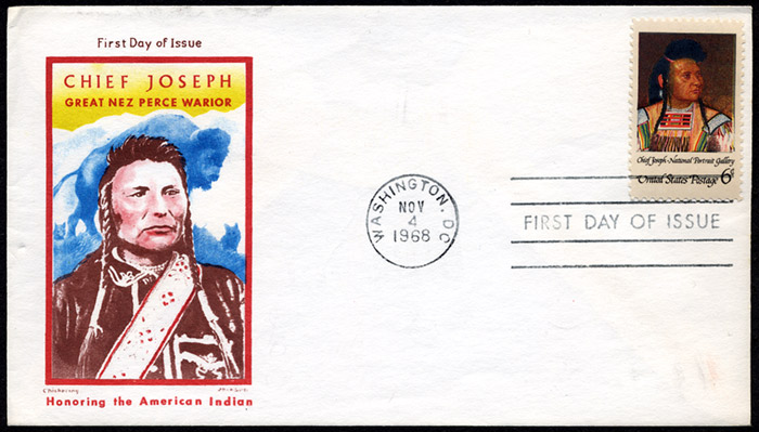 Chief Joseph, FDC, 1968