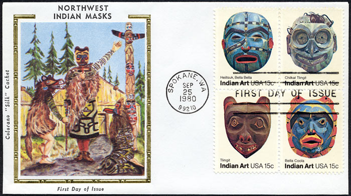 Indian Art, FDC, 1980