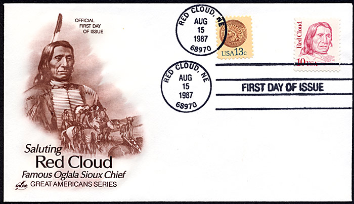 Red Cloud, FDC, 1987
