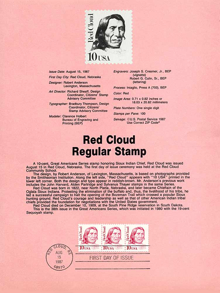 Red Cloud, Program, 1987