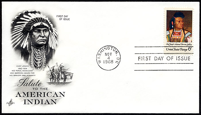 Salute To The American Indian, FDC, 1968